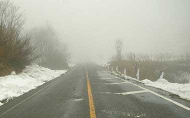 国道252号の除雪状況